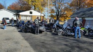 Laying of the roses ride with Legion Riders Post 290